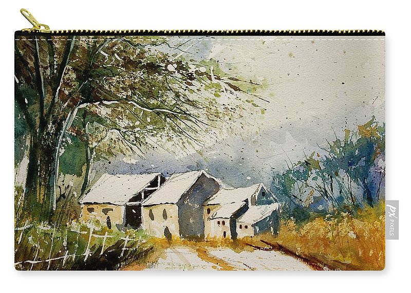 Landscape Carry-all Pouch featuring the painting Watercolor 010708 by Pol Ledent
