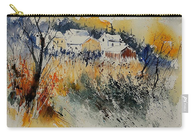 Landscape Carry-all Pouch featuring the painting Watercolor 011071 by Pol Ledent
