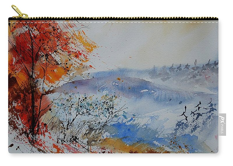 Tree Carry-all Pouch featuring the painting Watercolor 012060 by Pol Ledent