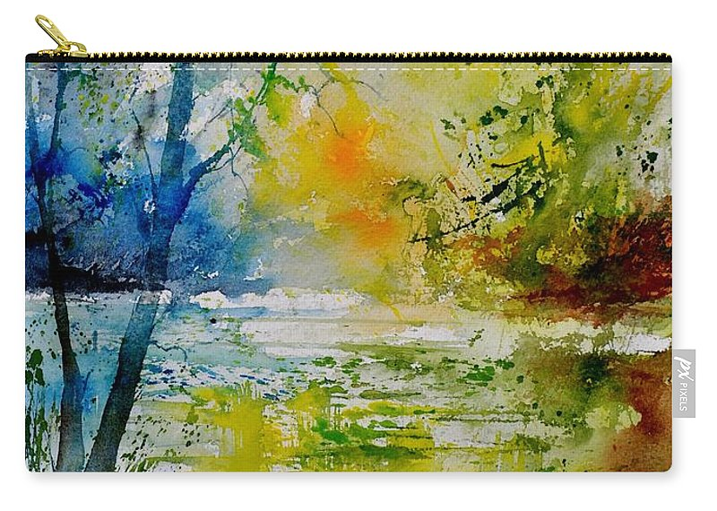 Pond Carry-all Pouch featuring the painting Watercolor 015003 by Pol Ledent