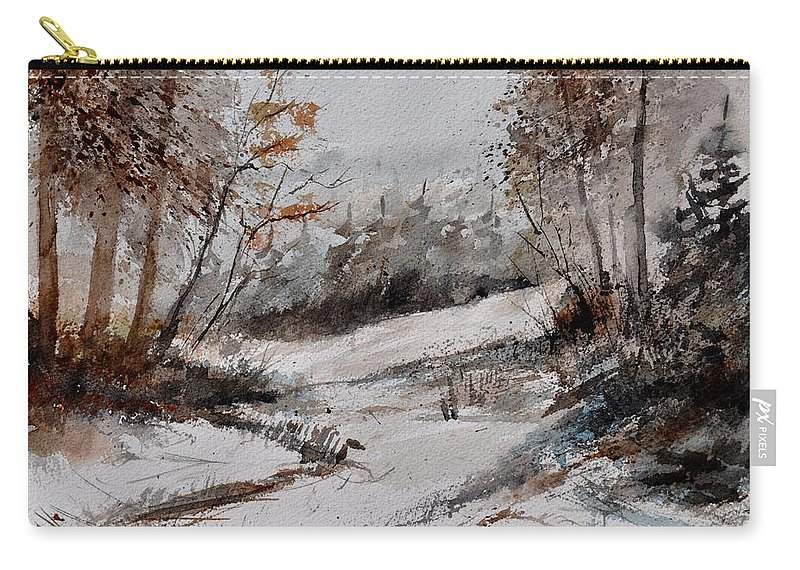Landscape Carry-all Pouch featuring the painting Watercolor 017051 by Pol Ledent