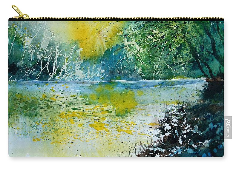 Pond Carry-all Pouch featuring the painting Watercolor 051108 by Pol Ledent