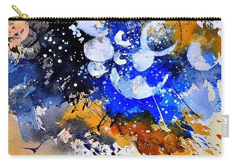 Abstract Carry-all Pouch featuring the painting Watercolor 111001 by Pol Ledent