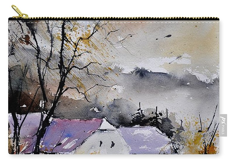 Landscape Carry-all Pouch featuring the painting Watercolor 112012 by Pol Ledent