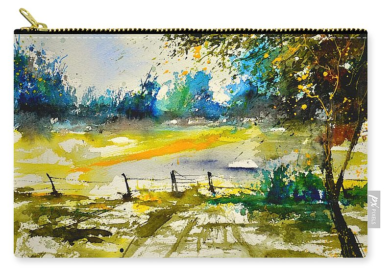 Landscape Carry-all Pouch featuring the painting Watercolor 112040 by Pol Ledent