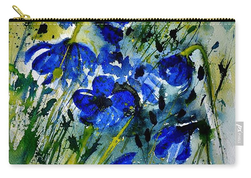 Flowers Carry-all Pouch featuring the painting Watercolor 112091 by Pol Ledent