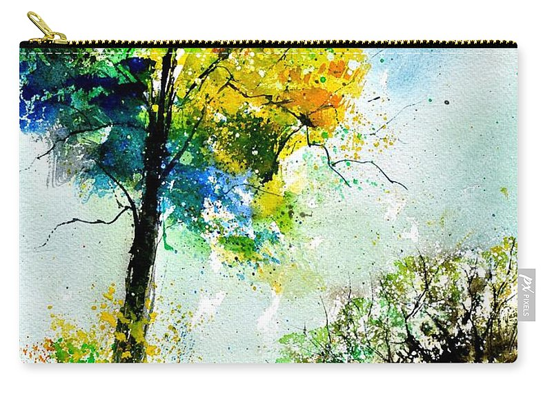 Landscape Carry-all Pouch featuring the painting Watercolor 114062 by Pol Ledent