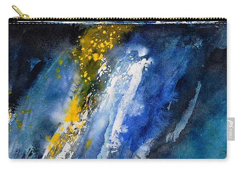 Abstract Carry-all Pouch featuring the painting Watercolor 119001 by Pol Ledent