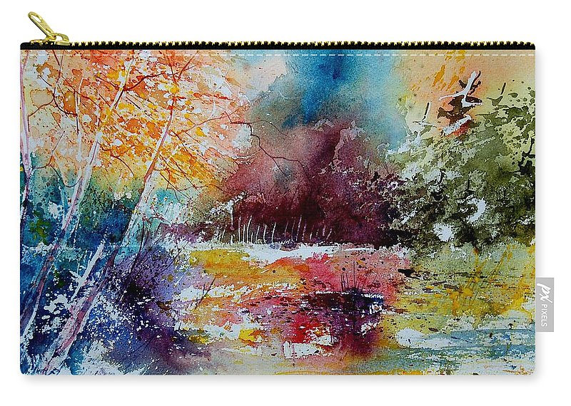 Pond Carry-all Pouch featuring the painting Watercolor 140908 by Pol Ledent