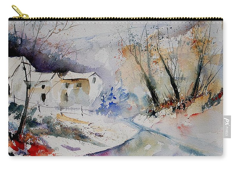 Village Carry-all Pouch featuring the painting Watercolor 15823 by Pol Ledent