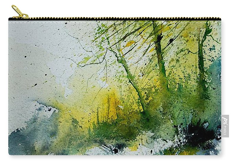 River Carry-all Pouch featuring the painting Watercolor 181207 by Pol Ledent