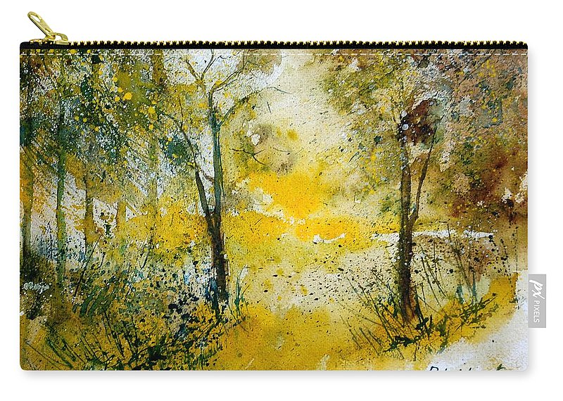 River Carry-all Pouch featuring the painting Watercolor 210108 by Pol Ledent
