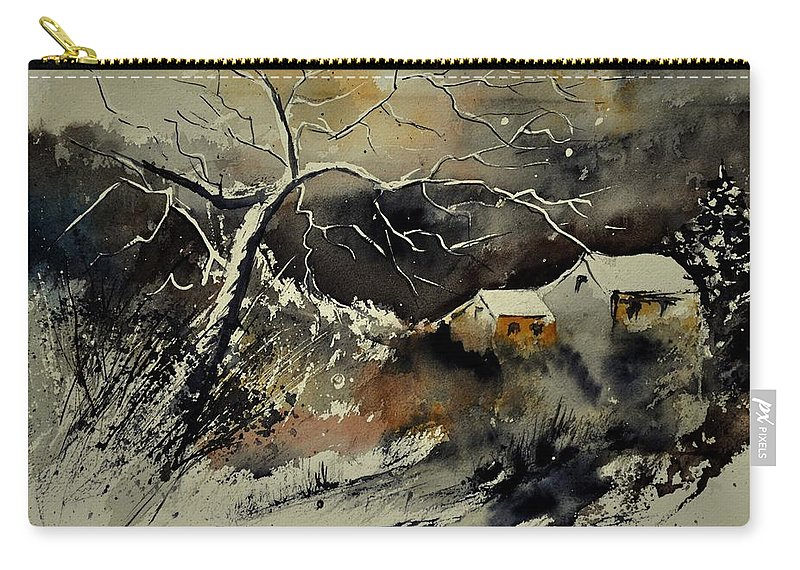 Landscape Carry-all Pouch featuring the painting Watercolor 210181 by Pol Ledent