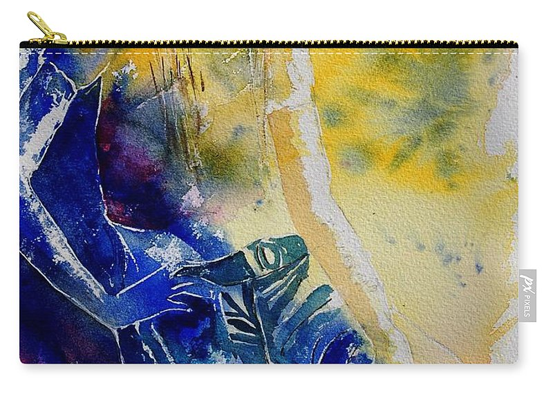 Girl Nude Carry-all Pouch featuring the painting Watercolor 21546 by Pol Ledent