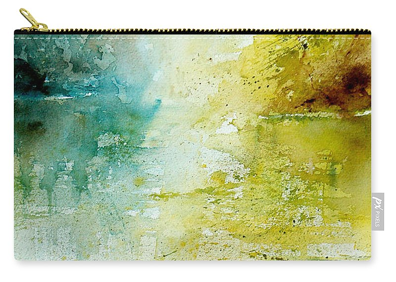 Pond Nature Landscape Carry-all Pouch featuring the painting Watercolor 24465 by Pol Ledent