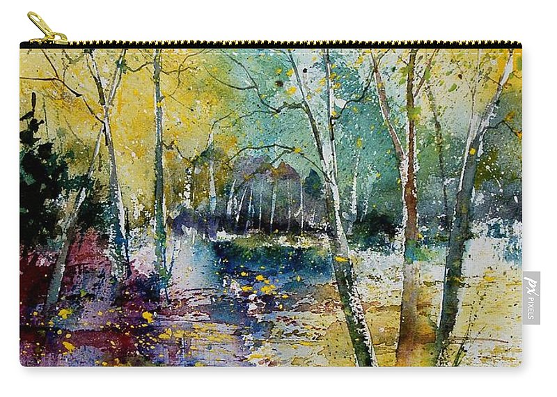 Pond Carry-all Pouch featuring the painting Watercolor 280809 by Pol Ledent