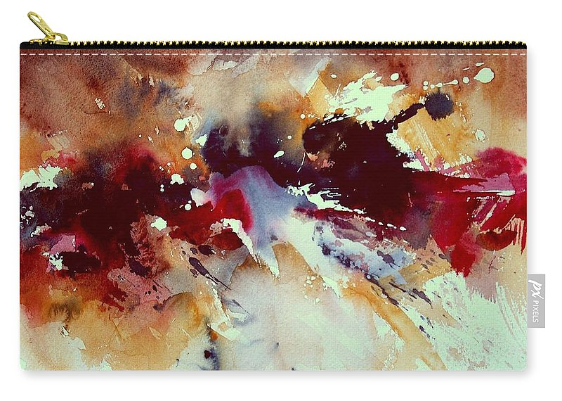 Abstract Carry-all Pouch featuring the painting Watercolor 301107 by Pol Ledent