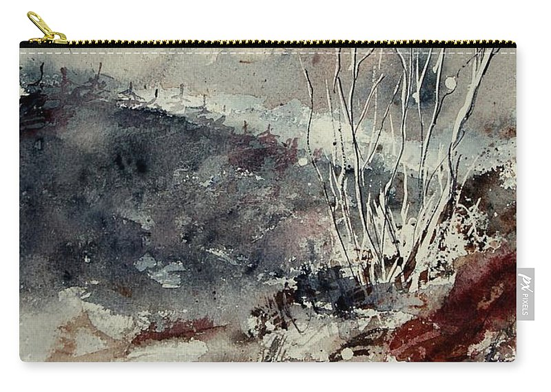 Snow Carry-all Pouch featuring the print Watercolor 446 by Pol Ledent