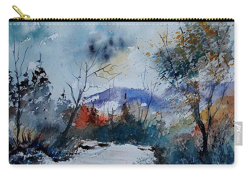 Landscape Carry-all Pouch featuring the painting Watercolor 802120 by Pol Ledent