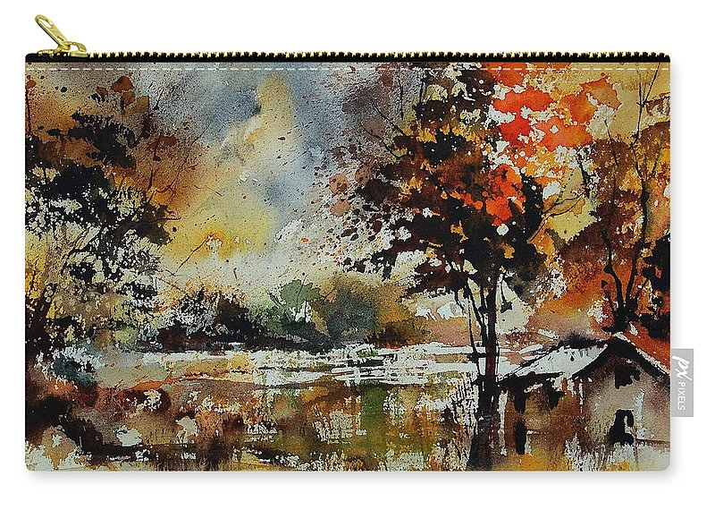 Tree Carry-all Pouch featuring the painting Watercolor 900152 by Pol Ledent