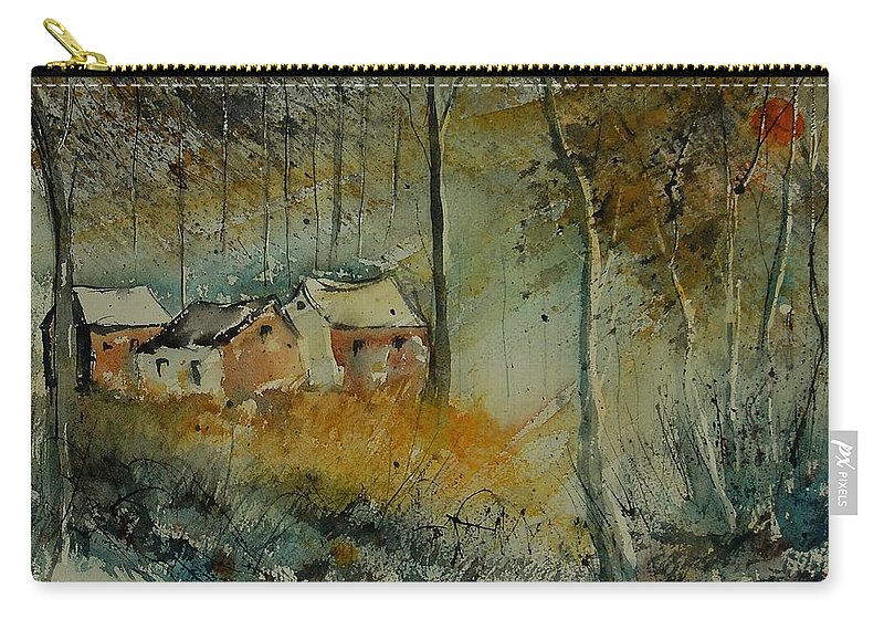 Landscape Carry-all Pouch featuring the painting Watercolor 900170 by Pol Ledent