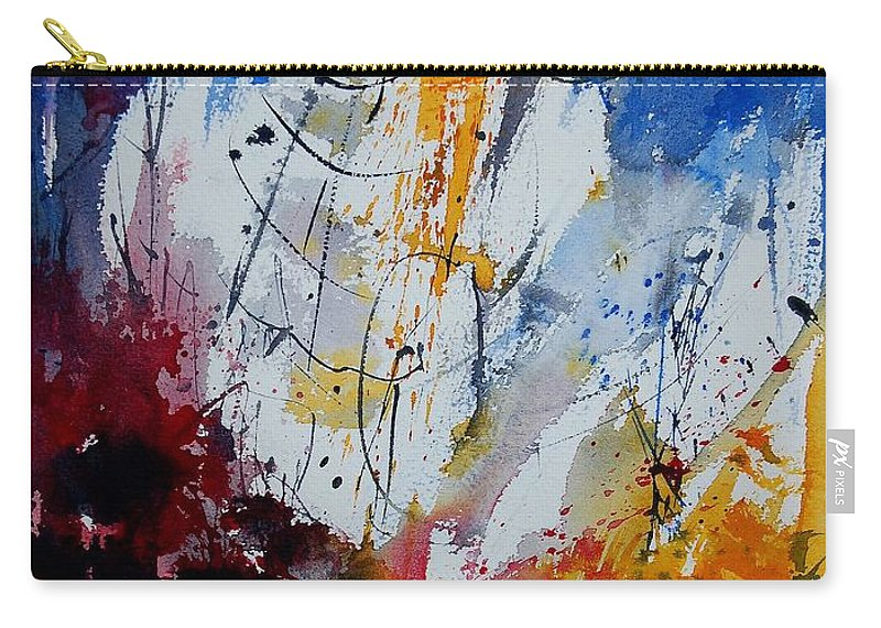 Abstract Carry-all Pouch featuring the painting Watercolor 901120 by Pol Ledent