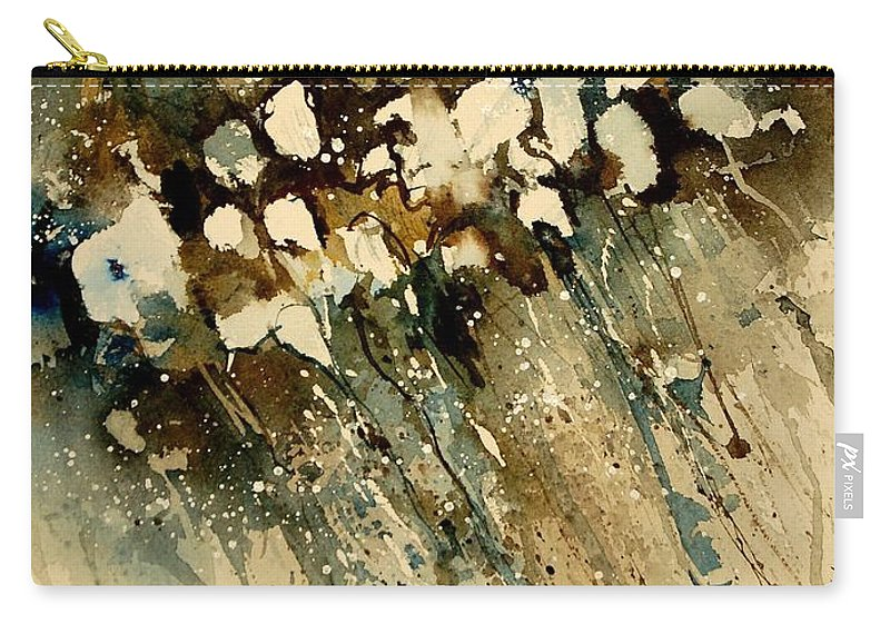 Abstract Carry-all Pouch featuring the painting Watercolor 901140 by Pol Ledent