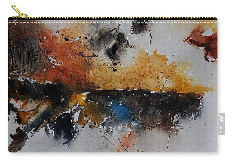 Abstract Carry-all Pouch featuring the painting Watercolor 901150 by Pol Ledent