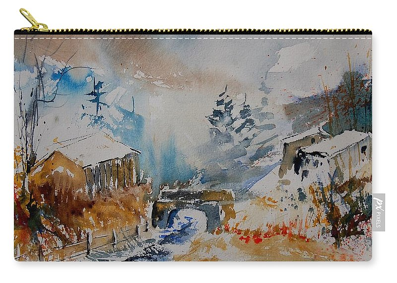 Tree Carry-all Pouch featuring the painting Watercolor 902102 by Pol Ledent