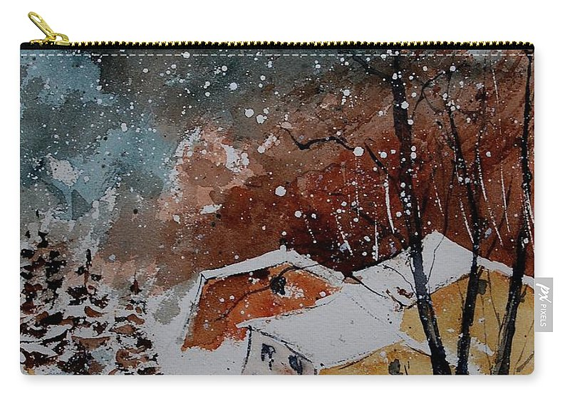 Winter Carry-all Pouch featuring the painting Watercolor 902113 by Pol Ledent