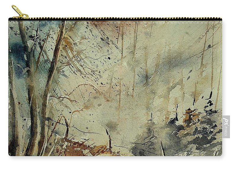 River Carry-all Pouch featuring the painting Watercolor 902190 by Pol Ledent