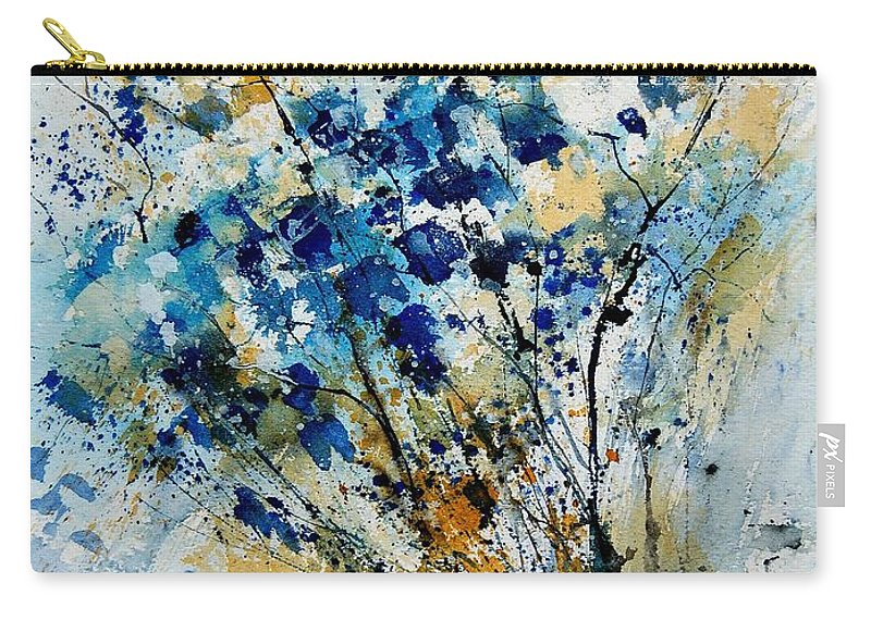 Flowers Carry-all Pouch featuring the painting Watercolor 907003 by Pol Ledent