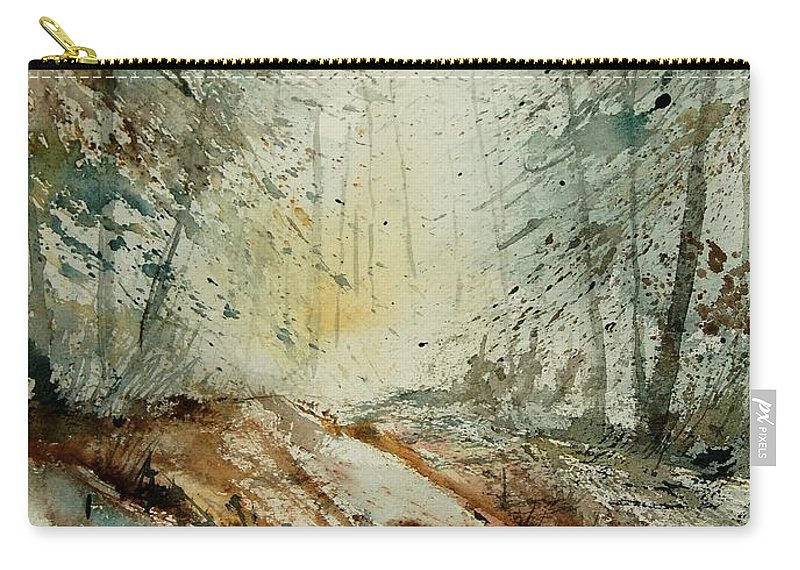 River Carry-all Pouch featuring the painting Watercolor 907013 by Pol Ledent