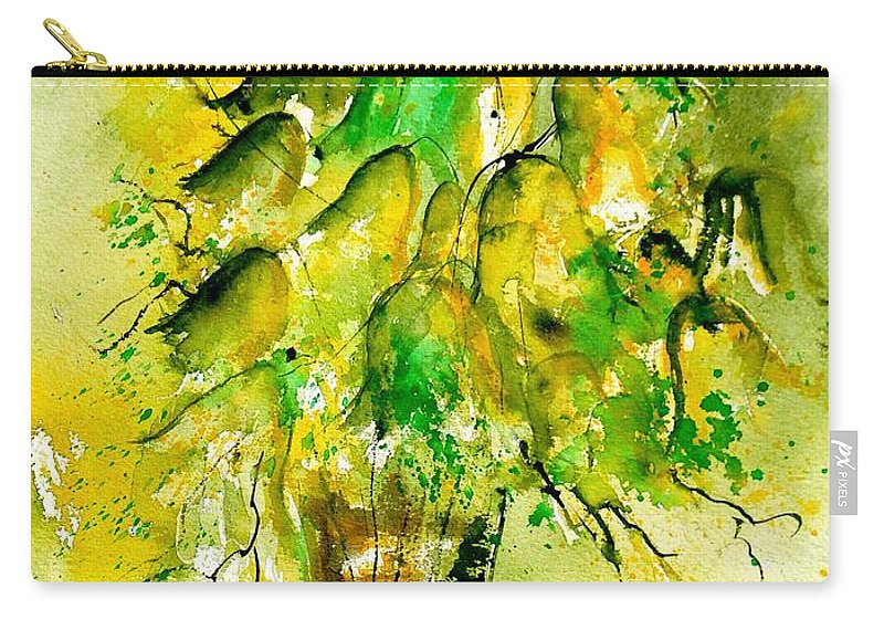 Flowers Carry-all Pouch featuring the painting Watercolor 90801 by Pol Ledent