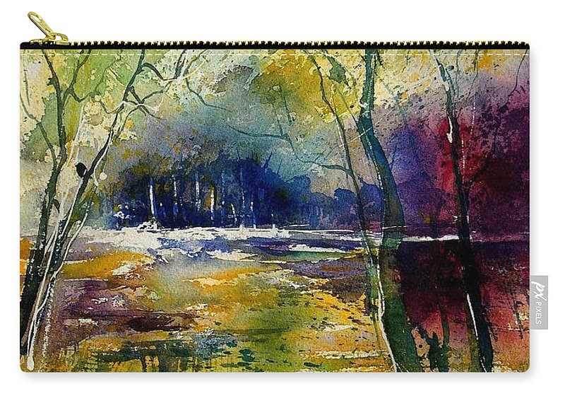 River Carry-all Pouch featuring the painting Watercolor 908010 by Pol Ledent