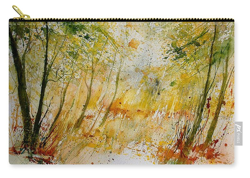 Tree Carry-all Pouch featuring the painting Watercolor 908012 by Pol Ledent