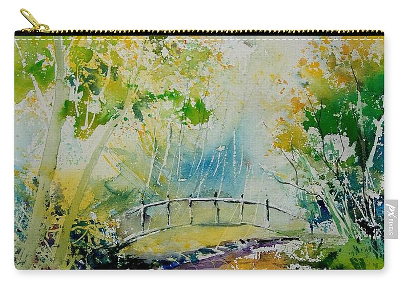 Water Carry-all Pouch featuring the painting Watercolor 908020 by Pol Ledent