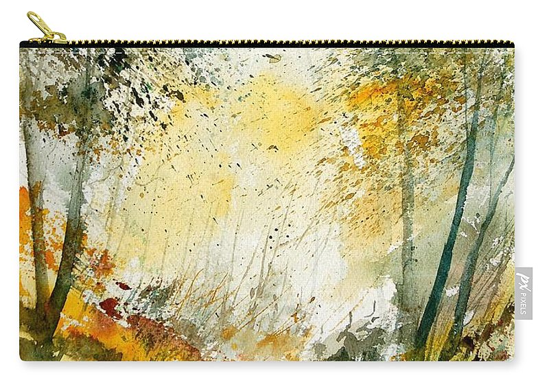 Tree Carry-all Pouch featuring the painting Watercolor 908021 by Pol Ledent