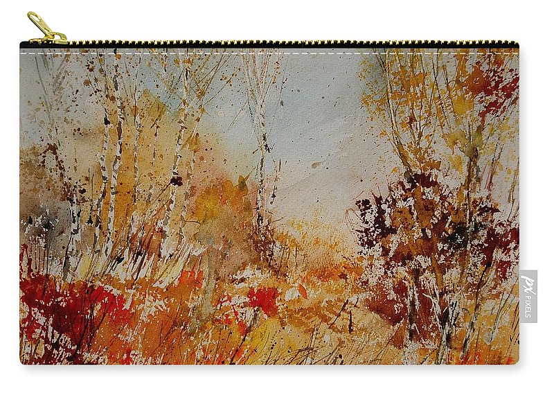 Tree Carry-all Pouch featuring the painting Watercolor 908031 by Pol Ledent