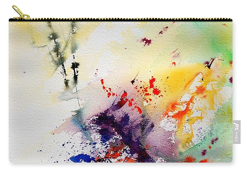 Abstract Carry-all Pouch featuring the painting Watercolor 908090 by Pol Ledent