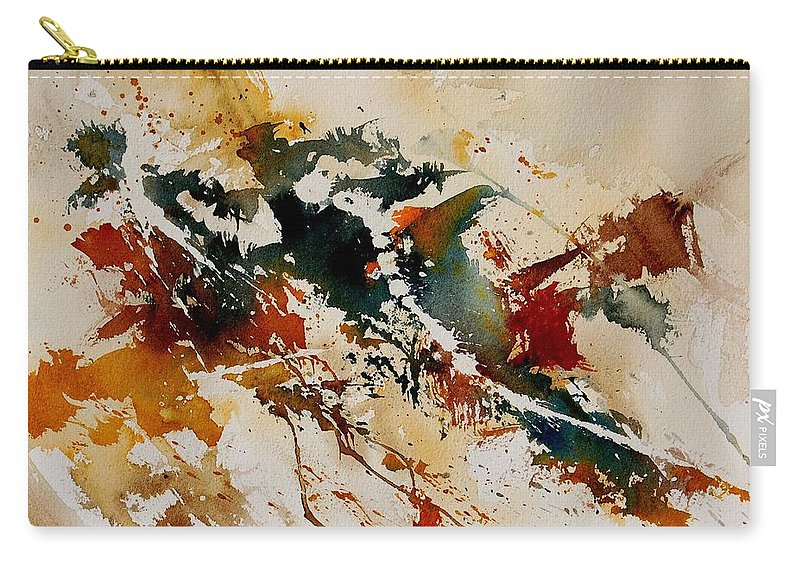 Abstract Carry-all Pouch featuring the painting Watercolor 90861 by Pol Ledent