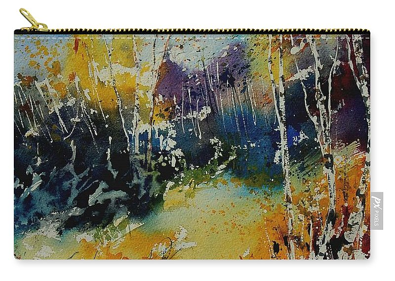 Tree Carry-all Pouch featuring the painting Watercolor 909052 by Pol Ledent