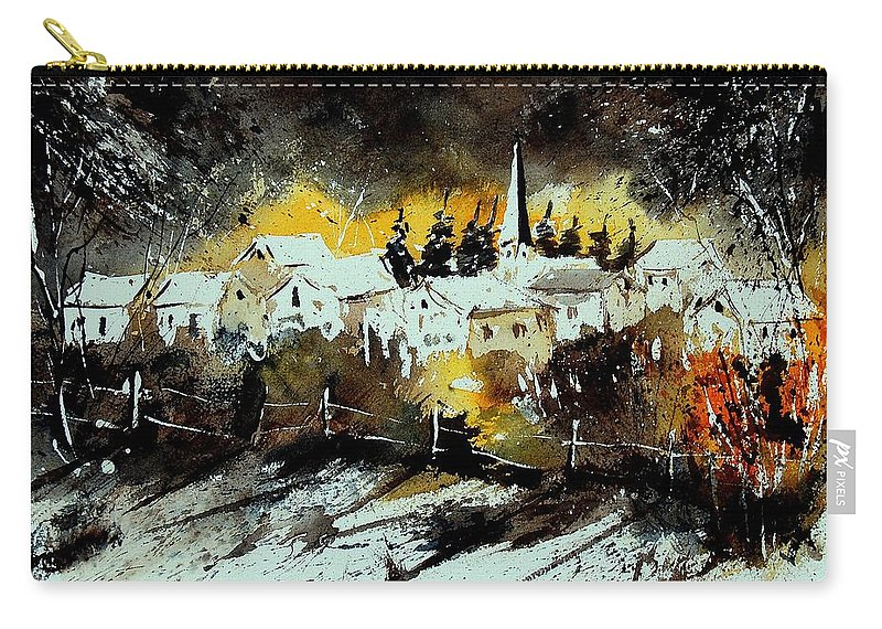 River Carry-all Pouch featuring the painting Watercolor 909072 by Pol Ledent