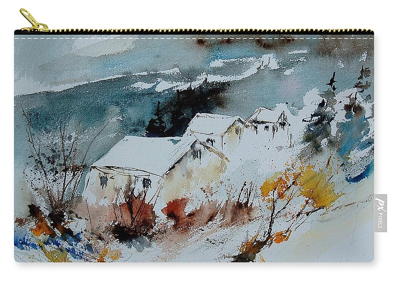 Winter Carry-all Pouch featuring the painting Watercolor 9090723 by Pol Ledent