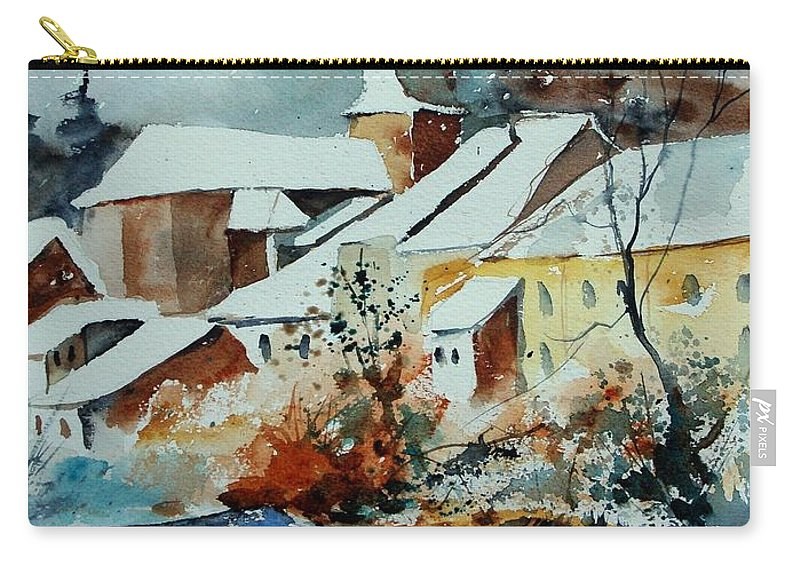 Landscape Carry-all Pouch featuring the painting Watercolor Chassepierre by Pol Ledent