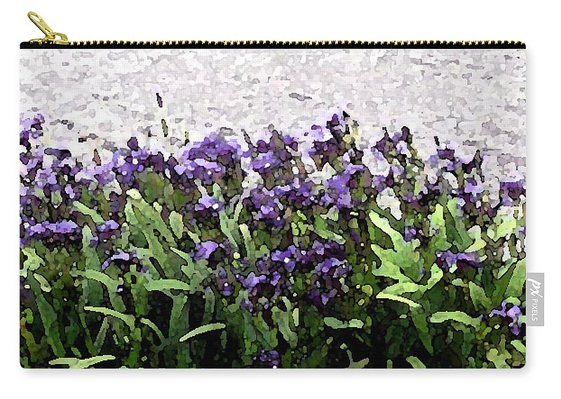 Abstract Art Carry-all Pouch featuring the photograph Watercolor Iris by Barbara Griffin
