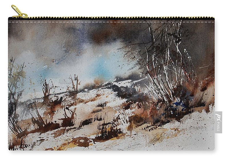 River Carry-all Pouch featuring the painting Watercolor Jjook by Pol Ledent