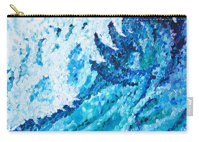 Ocean Carry-all Pouch featuring the painting Watercolor by JoAnn DePolo