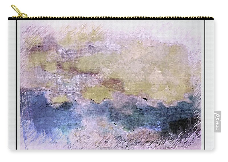Abstract Carry-all Pouch featuring the digital art Watercolor Landscape by Lenore Senior