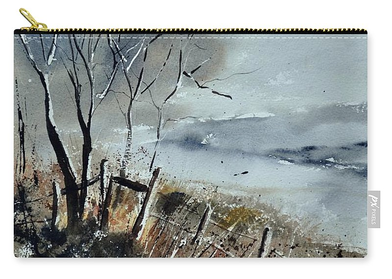 Landscape Carry-all Pouch featuring the painting Watercolor by Pol Ledent